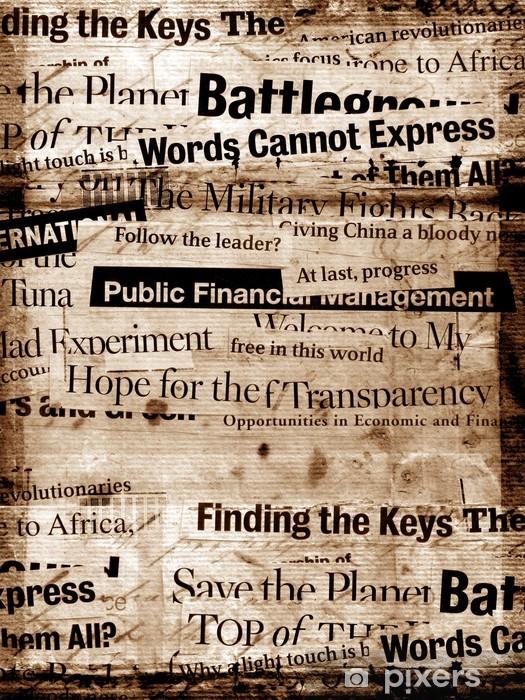 Nálepka Pixerstick Nové titulky papír s starého papíru pozadí - Styly
