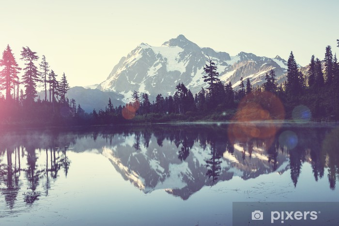 Carta da Parati in Vinile Immagine Lago - iStaging