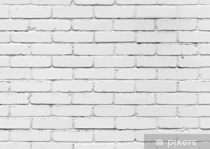 White Brick Wall Seamless Background Texture Wall Mural Pixers We Live To Change