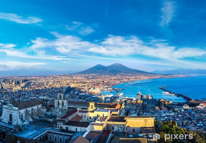 Afwasbaar Fotobehang Napels en de Vesuvius in Italië - Europa