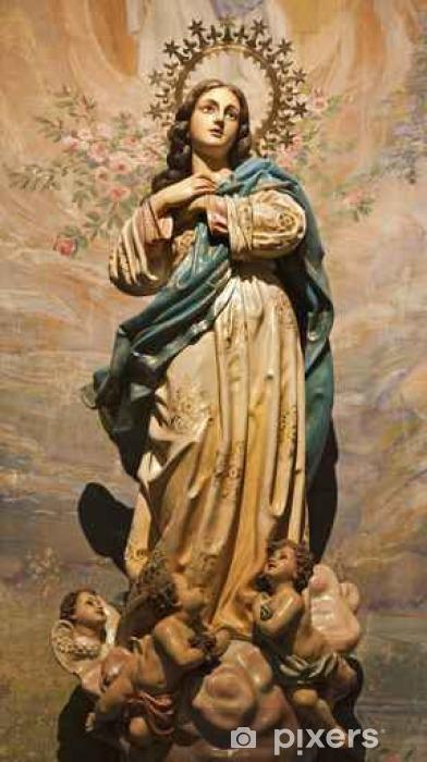 Vinyl-Fototapete Madrid - Unbefleckte Empfängnis Statue aus der Kirche hl. Theresia - Gebäude und Architektur
