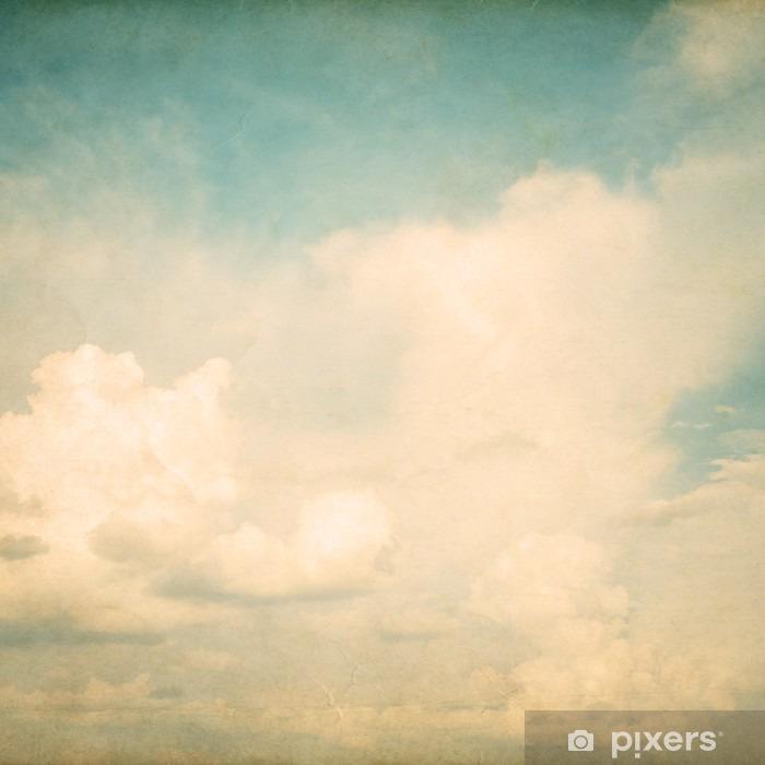 Vintage natur baggrund af himmel med sky, gamle papir tekstur Vinyl fototapet - Grafiske Ressourcer