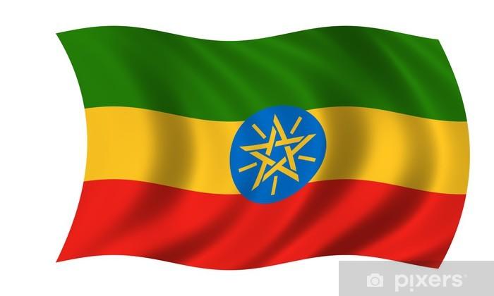 Vinyl-Fototapete Äthiopien fahne Äthiopien-Flagge - Afrika