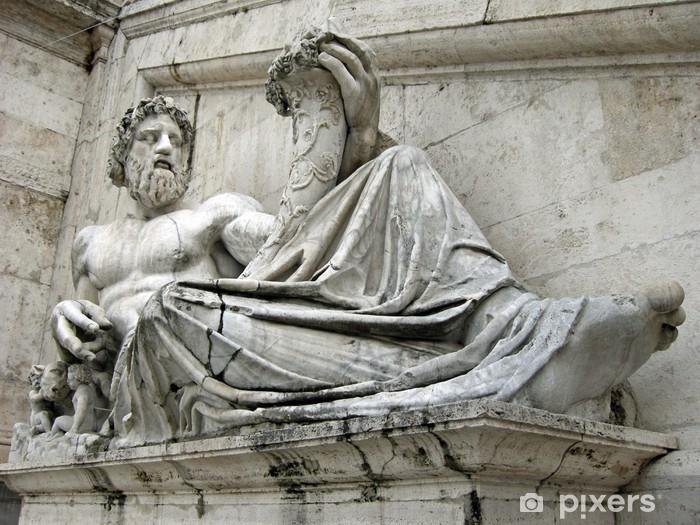 Fototapeta winylowa Rzeźby na Kapitolu - Miasta europejskie
