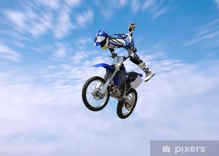 Fototapeta winylowa Dirt bike stunt rider - Transport drogowy