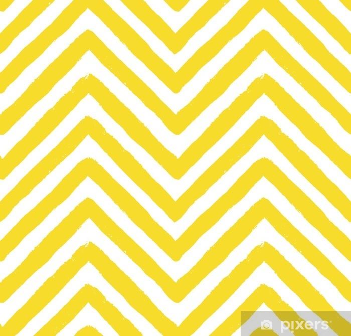 Mural de Parede Lavável Vetor padrão chevron amarelo sem costura - Paisagens
