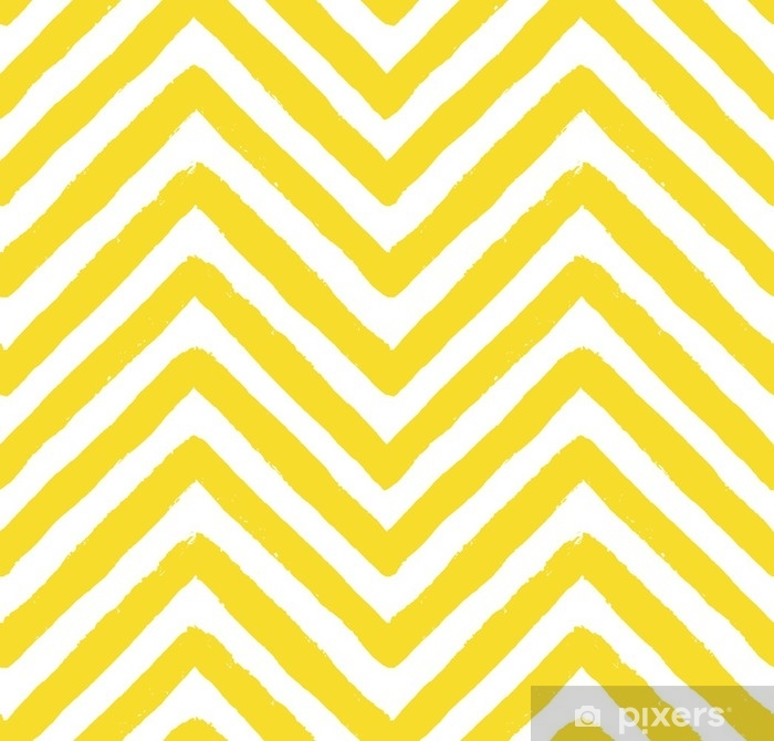 Vector Chevron Yellow Seamless Pattern Vinyl Wall Mural - Landscapes