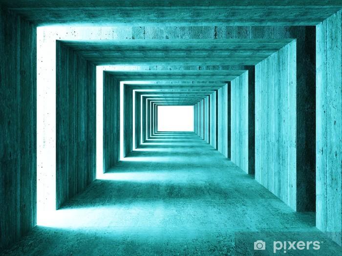 Naklejka Pixerstick Grzywny obrazu 3D tunelu tle streszczenie concretet - iStaging