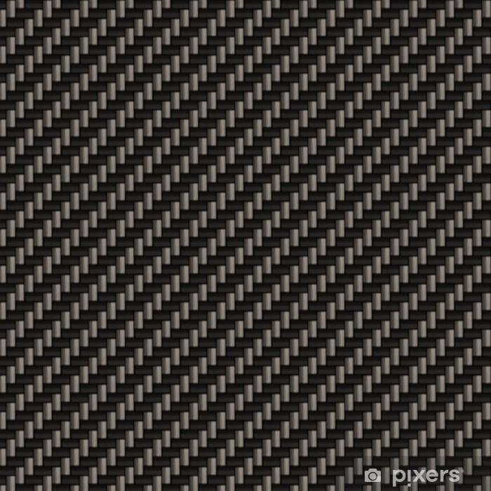 Wall Mural - Vinyl A diagonally woven carbon fiber background texture