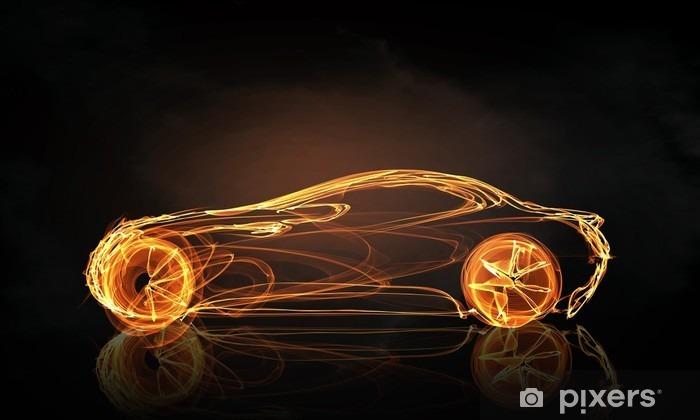 Vinil Duvar Resmi Araba ışık sembolü - Grafik kaynakları