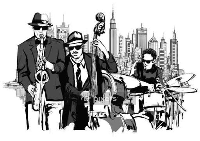 Jazz band in New-York Wall Decal - Hobbies and Leisure