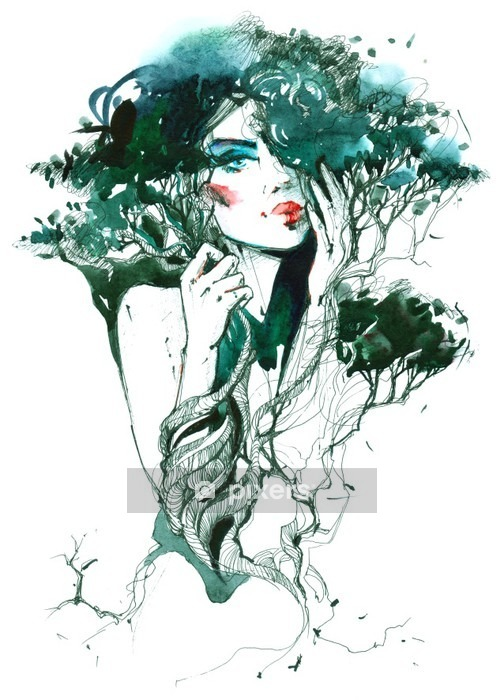 Nature and Beauty Wall Decal - Lifestyle