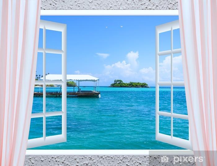 Fototapeta winylowa Otwarte okno do morza - Budynki prywatne