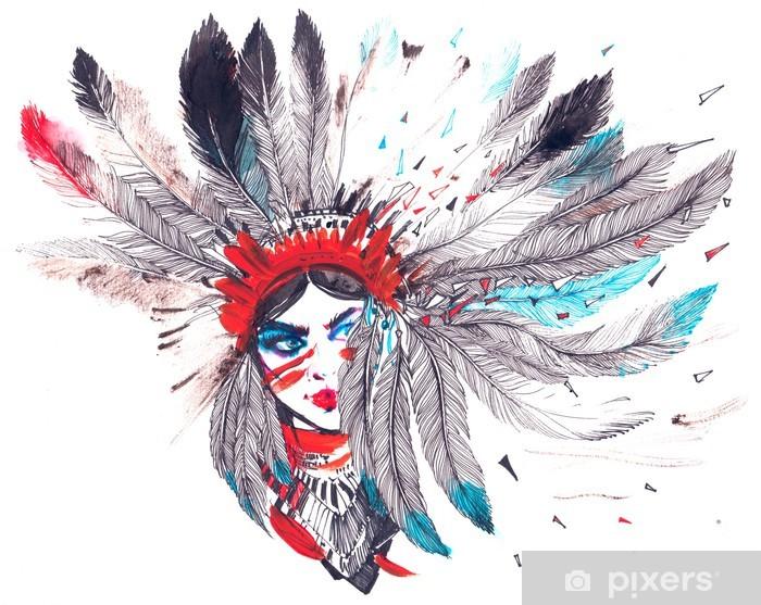 Naklejka Pixerstick Indianin - Podróże