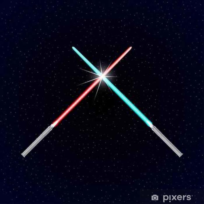 Papier peint vinyle Deux épées légères sur le fond des étoiles - Ressources graphiques