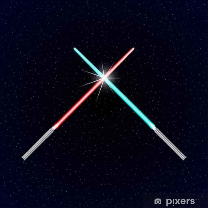 Two light swords on stars background Vinyl Wall Mural - Graphic Resources