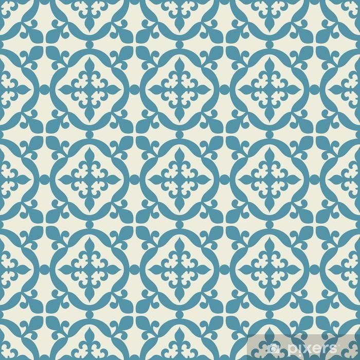 Seamless pattern. Portuguese, Moroccan, Spanish tile. Pixerstick Sticker - Graphic Resources
