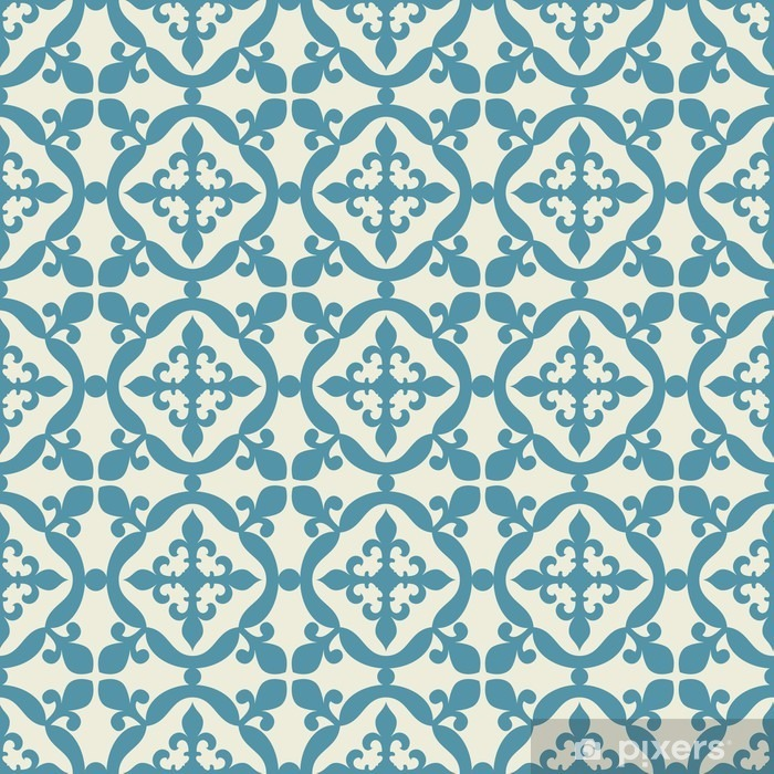 Seamless pattern. Portuguese, Moroccan, Spanish tile. Washable Wall Mural - Graphic Resources