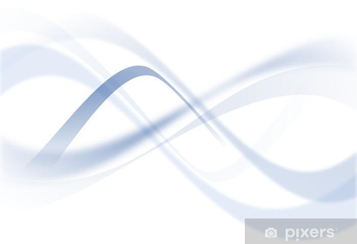 Naklejka Pixerstick Nakładka niebieska ramka - niebieski krzywa - Abstrakcja