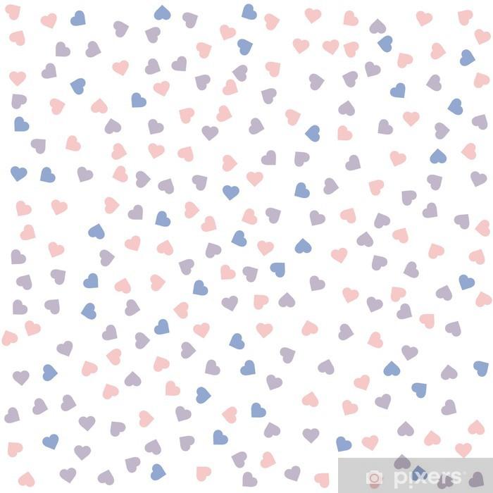 Plakat Serce szwu. ilustracji wektorowych. Rose Quartz i spokój kolorów. - Szczęście