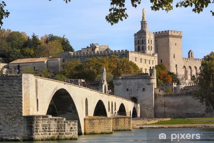 Papier peint vinyle Pont d'Avignon et du Palais des Papes - Europe