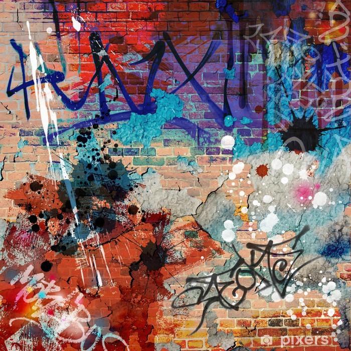 Fototapeta winylowa Bałagan? ciany graffiti - Tematy