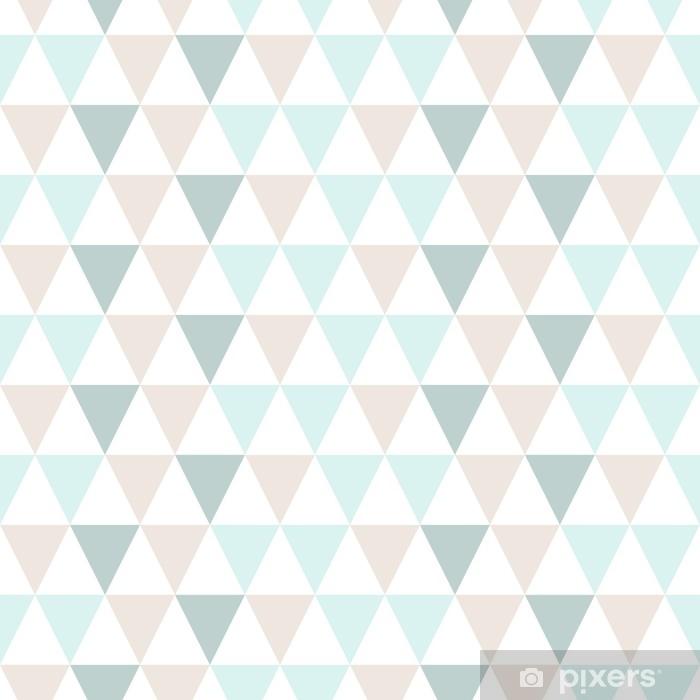 Dreieck Muster Abstrakt Pastell Wall Mural