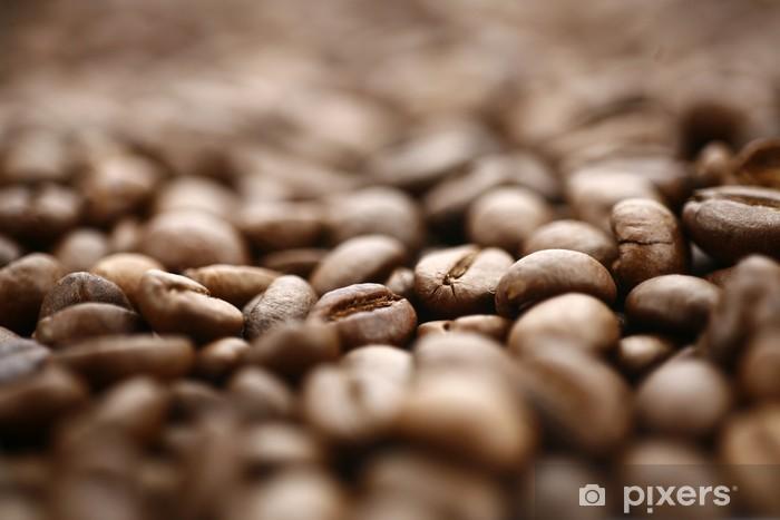 Naklejka Pixerstick Ziarna kawy - Gorące napoje