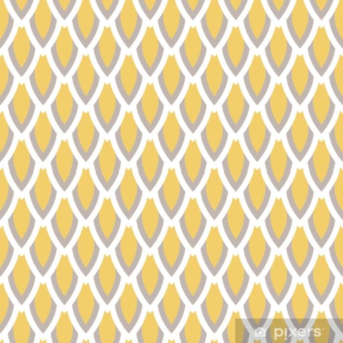 Papier Peint Moutarde Jaune Et Motif Taupe Géométrique Vecteur