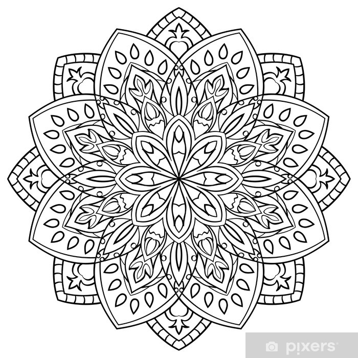 Boyama Kitabi Icin Mandala Duvar Resmi Pixers Haydi