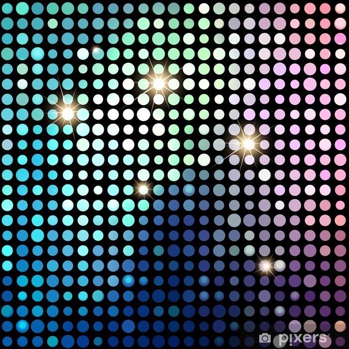 Vinilo para Nevera Fondo colorido abstracto de los puntos del disco. Antecedentes del vector - Recursos gráficos