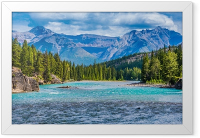 Lovely Canadian mountain landscape Framed Poster
