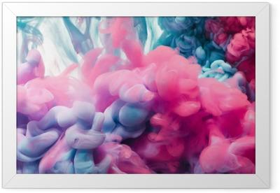 Splash of color ink. Abstract background Framed Poster