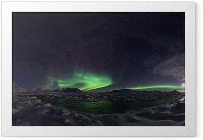Northern Lights, Spitsbergen Framed Poster