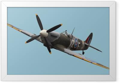 Isolated Spitfire Framed Poster