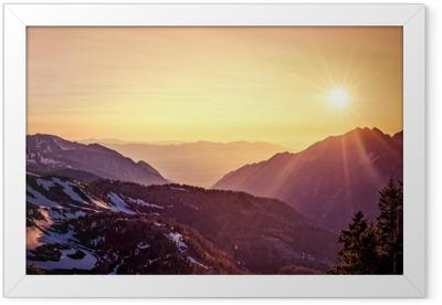 Utah Mountain Sunset Framed Poster