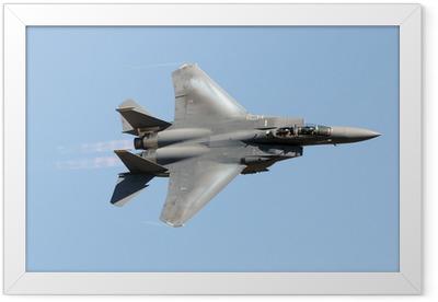 Military jet fighter Framed Poster