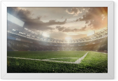 Sport Backgrounds. Soccer stadium. Framed Poster