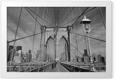 Brooklyn Bridge, New York Framed Poster