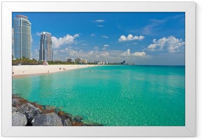 South Beach, Miami, Florida Framed Poster