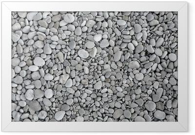 pebbles background Framed Poster