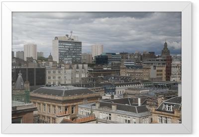 Glasgow Cityscape Framed Poster