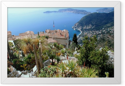 Eze, renowned tourist site on the French Riviera Framed Poster