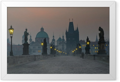 Charles Bridge, Prague Framed Poster