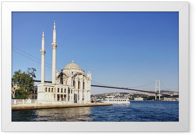 Summer at Ortakoy with Mecidiye Mosque Framed Poster