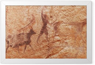 Rock paintings of Tassili N'Ajjer, Algeria Framed Poster