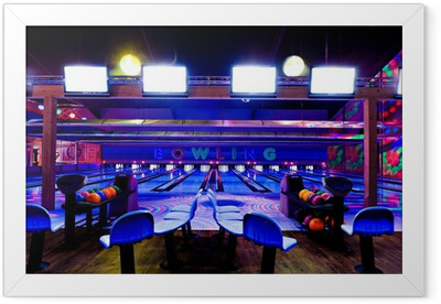 bowling center Framed Poster