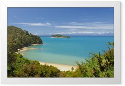 New Zealand Landscape. Abel Tasman National Park. Framed Poster
