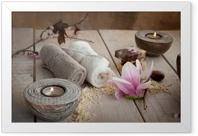 Natural spa setting Framed Poster
