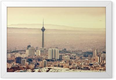 Tehran Skyline Framed Poster
